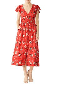 Daniella Floral Smocked Dress by Rebecca Taylor