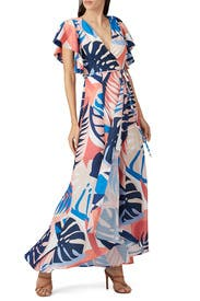 Talia Leaf Print Maxi by Hutch