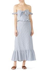 Striped Bella Midi Dress by STYLESTALKER