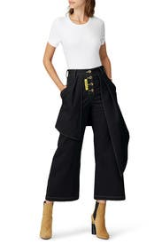 Large Ribbon Black Pants by Victoria / Tomas