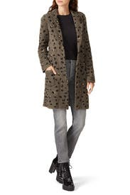 Leopard Sweater Coat by Aldomartins