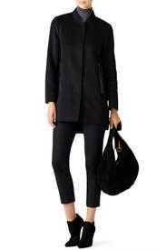 Black Wool Puffer Coat by Derek Lam 10 Crosby