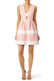 Pink Candy Stripe Dress by nha khanh