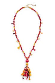Multi Pretty Poms Tassel Pendant by kate spade new york accessories
