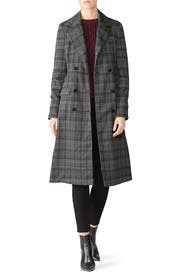 Plaid Ponte Crombie Jacket by Michael Stars