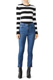 Luna Mini Split Jeans by 3x1