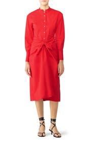 Red Tie Shirtdress by Proenza Schouler