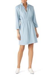 Weston Knit Mini Shirred Dress by Tibi