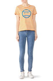 Striped Little Grumps T-Shirt by Tory Sport