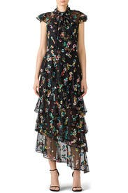 Multi Floral Gown by ML Monique Lhuillier