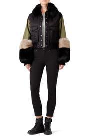 Faux Sutton Bomber Jacket by Marissa Webb