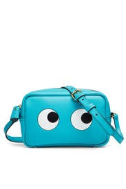 Turquoise Mini Eyes Crossbody by Anya Hindmarch