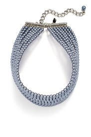 Dark Grey Pearl Choker by Kenneth Jay Lane