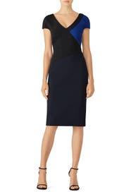 V-Neck Banded Dress by Diane von Furstenberg
