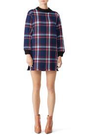 Plaid Fringe Shift Dress by J.O.A.