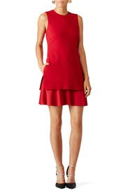 Red Malkan Dress by Theory