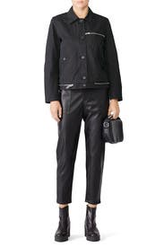 Black Collared Jacket by Proenza Schouler White Label