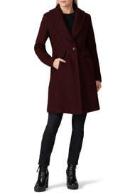 Grape Faux Fur Coat by Novelti