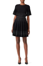 Black Stiched Knit Dress by Alexia Admor
