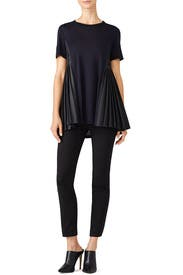 Midnight Pleated Panel Top by ADEAM
