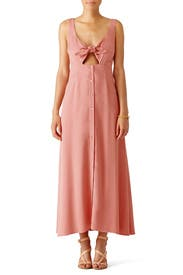 Pink Tie Midi Dress by Mara Hoffman