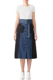 Denim Two Tone Skirt by Sea New York