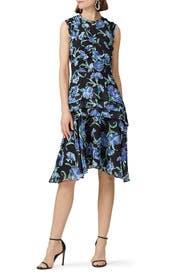 Printed Fit and Flare Day Dress by Jason Wu Collection