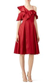 Ruffle Me Red Dress by Slate & Willow