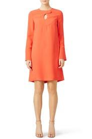 Orange Cady Mini Dress by DEREK LAM
