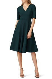Green Swing Dress by Donna Morgan
