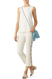Sandy Cropped Jeans by Tory Burch