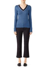 Blue Printed Sweater by Diane von Furstenberg