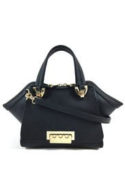Black Eartha Double Handle Bag by ZAC Zac Posen Handbags
