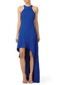 Cobalt Asymmetric Gown by Halston Heritage