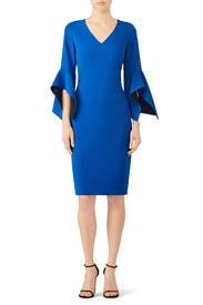 Cobalt Flare Dress By Badgley Mischka For 75 Rent The