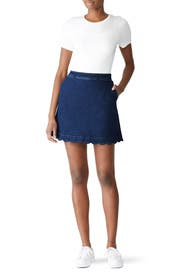 Scallop Denim Skirt by Draper James
