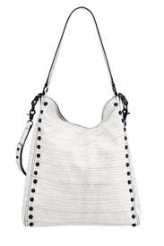 Hashmark Embossed Leather Hobo by Loeffler Randall