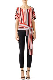 Striped Sawyer Top by DELFI Collective