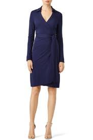 Navy Jeanne Two Dress by Diane von Furstenberg