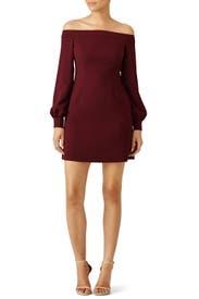Red Ink Shoulder Dress by Jill Jill Stuart