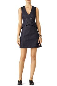 Double Breasted Vest Dress by Derek Lam 10 Crosby
