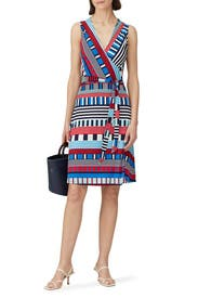 Sleeveless Perfect Wrap Dress by Leota