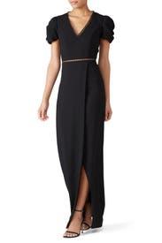 Black Cut Out Gown by ML Monique Lhuillier