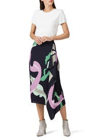 Ant Farm Print Asymmetrical Skirt by Tibi