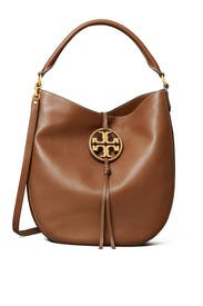 Milk Chocolate Miller Slouchy Bag by Tory Burch Accessories