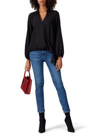 Hunter Wrap Blouse by B Collection by Bobeau
