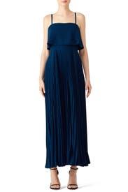 Blue Pleated Gown by Jill Jill Stuart