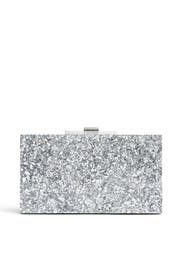 Silver Rectangular Minaudiere by Halston Heritage Handbags