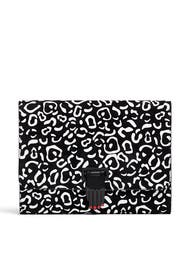 Leopard Nokki Hand Clasp Clutch by Opening Ceremony Accessories