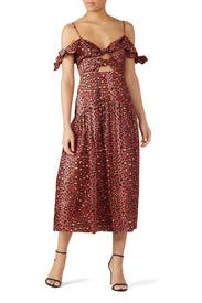 Leopard Bow Dress by Rebecca Taylor